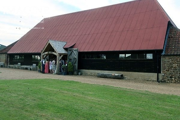 Hannah & Will's wedding reception at The Red Barn in Norfolk