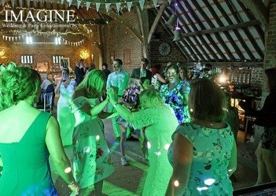 Claire & Stuart's wedding reception at The Thatched Barn in Yelling