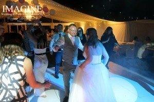 Helena & Duncan's wedding reception at Rosewood Pavillion