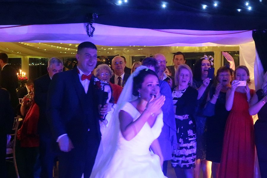 Zoe & Ben's wedding reception at The Old Hall in Ely
