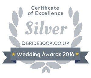 Bridebook Silver Award holder 2018