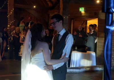Lowri & Chris' wedding reception at Red Barn in North Runcton