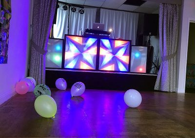 A small version of the Retro Roadshow in place for Dave's 80s themed party at Brampton Park golf club