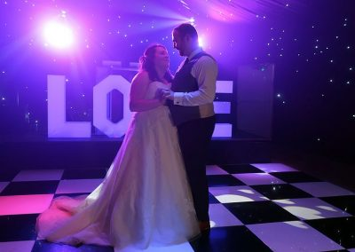 Kelly & Colin's wedding reception at The Old Hall in Ely with Imagine Wedding & Party Entertainment