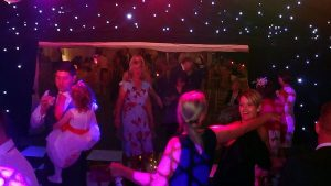 Amy & Dale's evening reception at The Old Hall Ely with Imagine Wedding & Party Entertainment