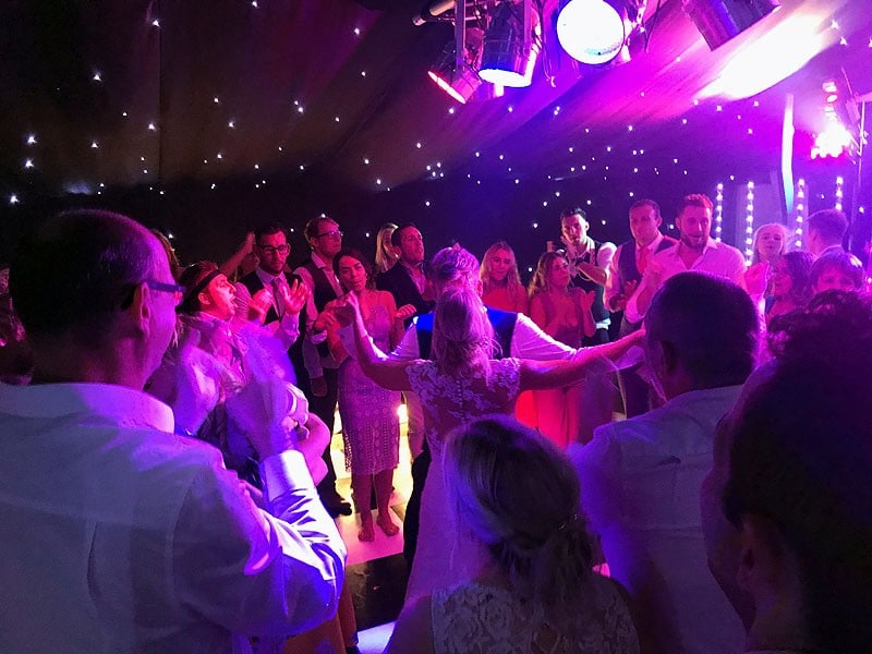 Alex & Matt's wedding reception disco at The Old Hall in Ely with Imagine Wedding & Party Entertainment
