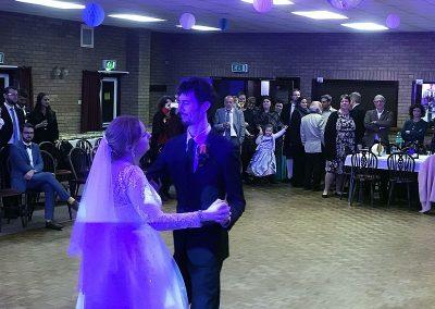 Amy & François Wedding Reception at Witchford Village Hall
