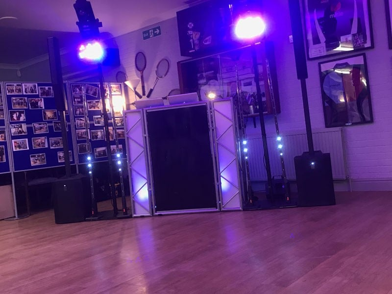 A small but effective and elegant party disco setup from Imagine Wedding & Party Entertainment