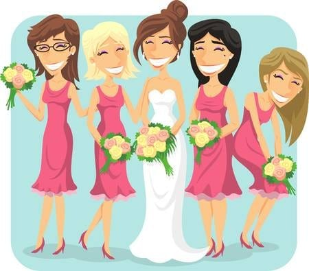 Wednesday Wedding Fact: Bridesmaids