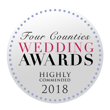Highly Commended in the Four Counties Wedding Awards