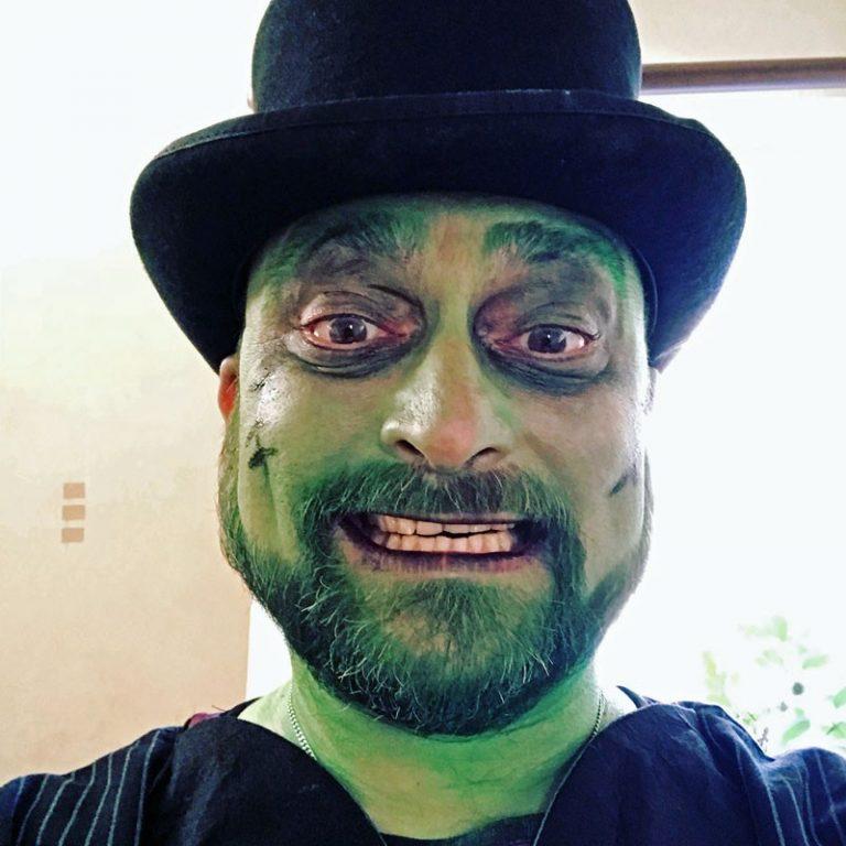 DJ Wayne ready for a Halloween party
