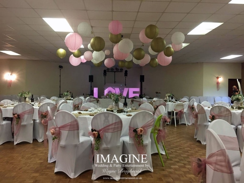 I offer a wedding breakfast service including background music, wireless microphones and table games