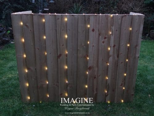 Rustic style DJ booth from Imagine Wedding & Party Entertainment