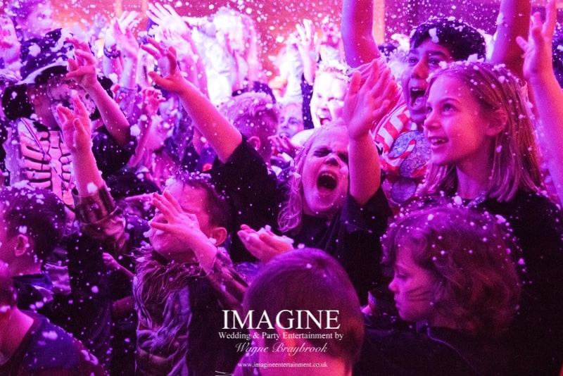 Snow at an Imagine kids party
