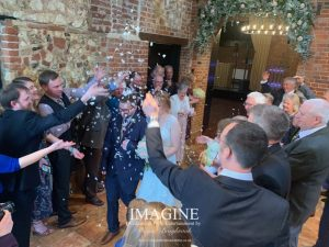 Ollie & Lauren's wedding at Sussex Barn in Burnham Market with Imagine Wedding & Party Entertainment