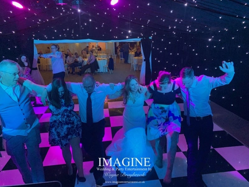 Cara & Joe's wedding reception at The Old Hall in Ely with Imagine Wedding & Party Entertainment