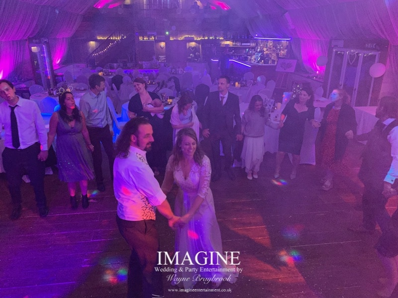 Sarah & Bryan's wedding reception at Bedinham's Farm with Imagine Wedding & Party Entertainment