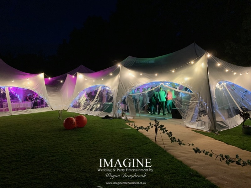 Kathryn & Jame's evening reception at The Dower House with Imagine Wedding & Party Entertainment