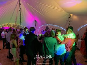 Katheryn & Jame's evening reception at The Dower House with Imagine Wedding & Party Entertainment