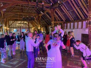 Kelly & Glenn's Retro wedding reception at Smeetham Hall Farm