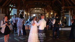 Kelly & Glenn's Retro wedding reception at Smeetham Hall Farm