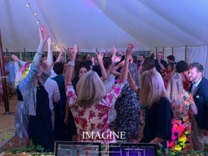 Jemima & Ed's wedding at Horsley Hale Farm with Imagine Wedding & Party Entertainment Wedding DJ