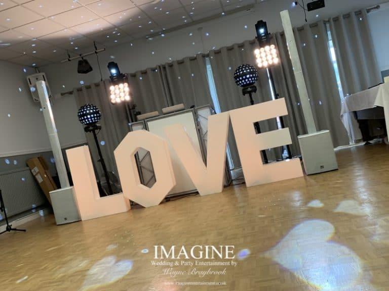 Wedding Party DJ at March Conservative Club. Tracey & Tony's Wedding reception at March Conservative Club