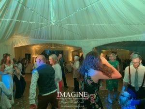 Sarah & Nigel's wedding reception at Forest Lodge Weddings in Thetford
