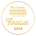 Finalist in the 2019 Four Counties Wedding Awards