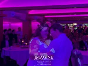 Amy & Dan's evening reception with Imagine Wedding & Party Entertainment at Slepe Hall Hotel 02