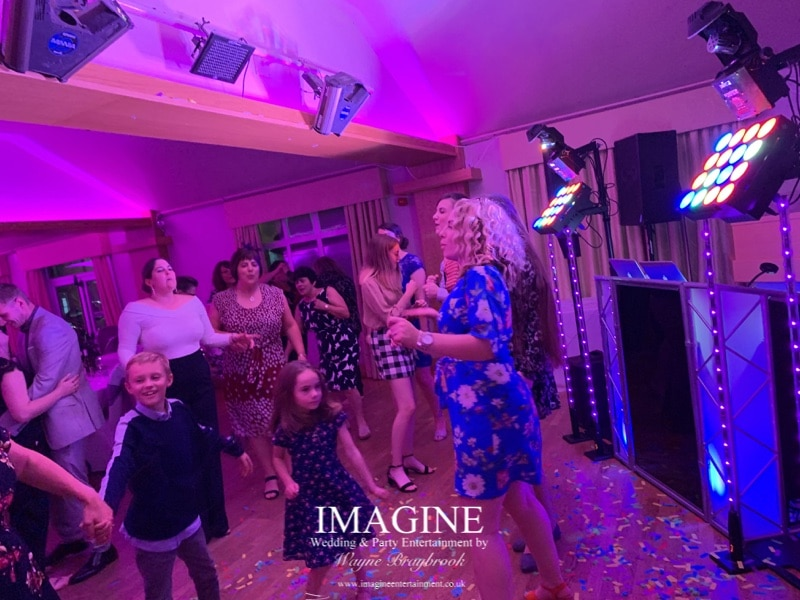 Amy & Dan's evening reception with Imagine Wedding & Party Entertainment at Slepe Hall Hotel 06