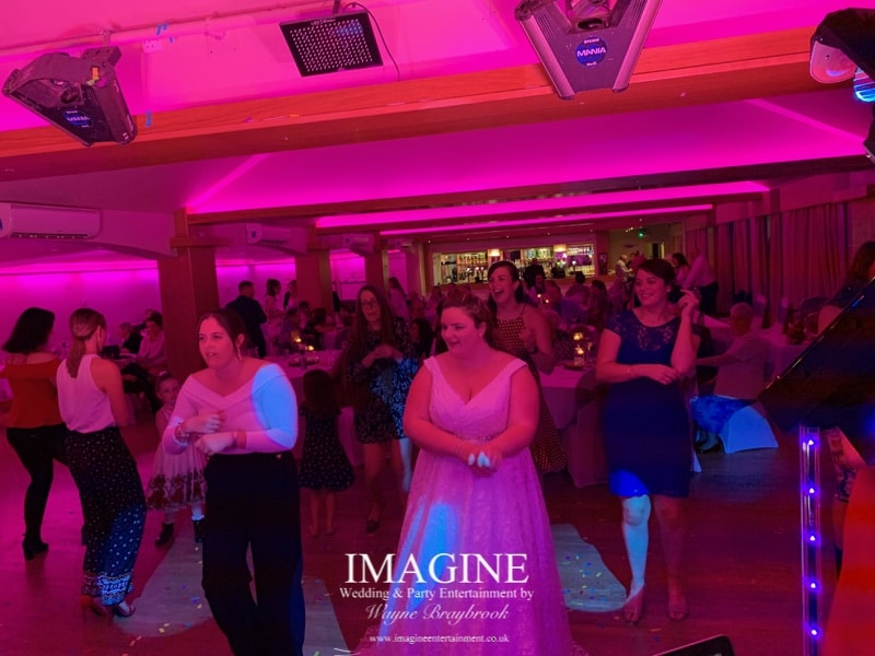 Amy & Dan's evening reception with Imagine Wedding & Party Entertainment at Slepe Hall Hotel 08