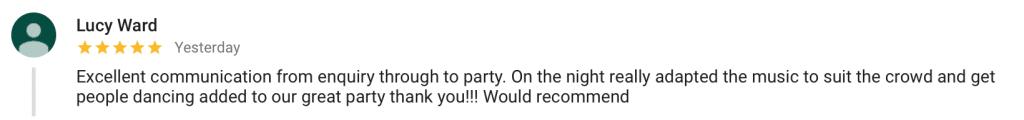 Imagine Entertainment Google Review