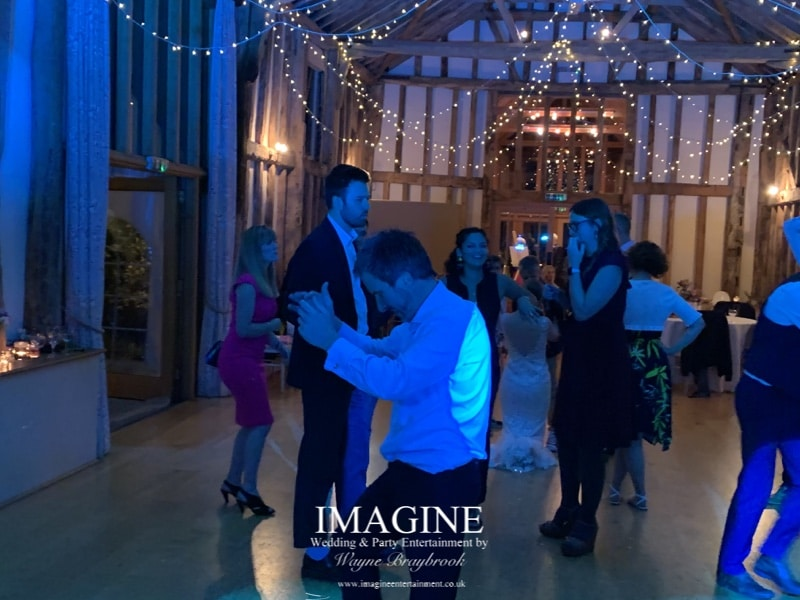 Tess & Drew's evening wedding reception with Imagine Wedding & Party Entertainment