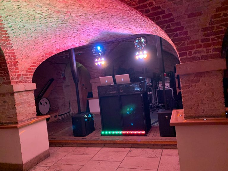 Micro disco setup for the smaller party
