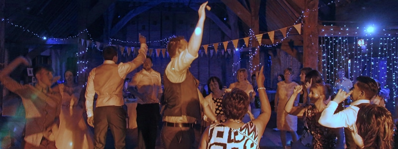 Enjoy your evening reception with plenty of dancing and the soundtrack to your special day