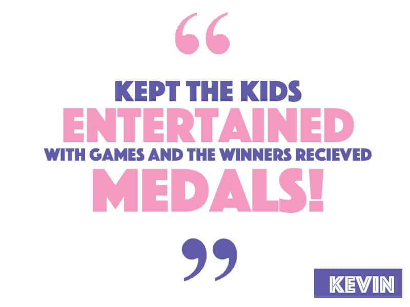 Kept the kids entertained with games and the winners even received medals/glow bands (of course they were all winners!)
