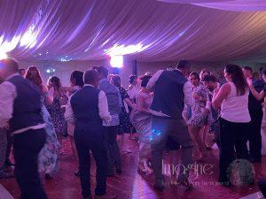 Aimee & Stefan's marquee wedding reception in Murrow